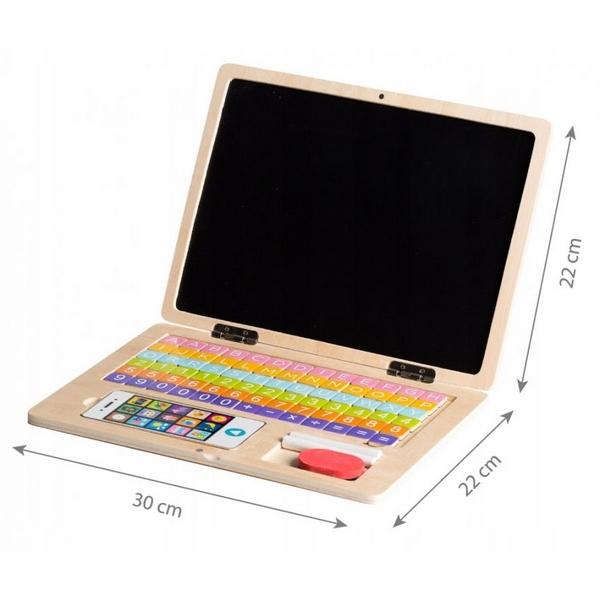 Laptop educational din lemn g068 ecotoys