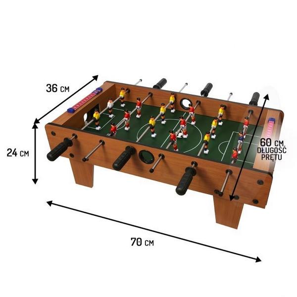 Masa de fotbal din lemn ecotoys 70 x 36 x 24 cm - nature imagine
