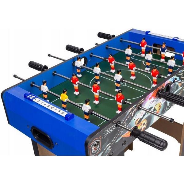 Masa de fotbal din lemn 69 x 37 x 66 cm ecotoys - albastru imagine