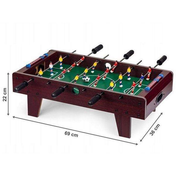 Masa de fotbal din lemn ecotoys 69 x 36 x 22 cm