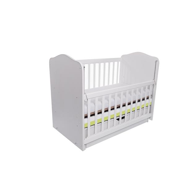 Patut eurogloria como balansoar culisant - alb cu verde + saltea cocos confort 120 x 60 x 12 cm imagine
