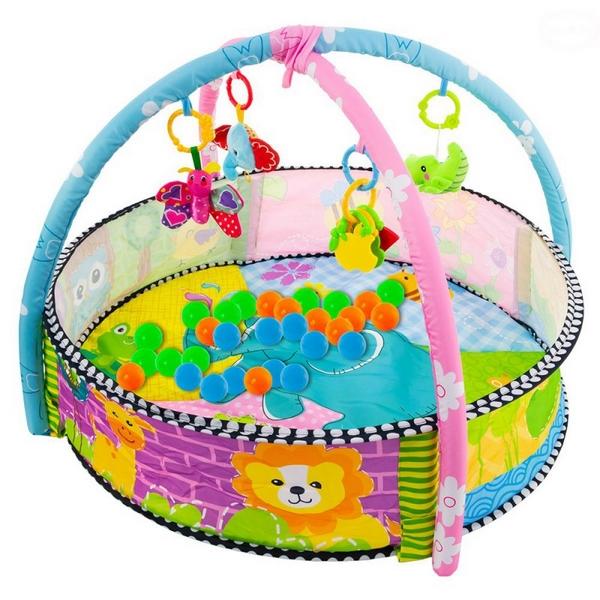 Piscina cu centru de activitati ebzcc9600-2, 30 de bile, multicolora imagine
