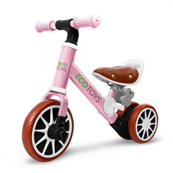 Bicicleta fara pedale ecotoys lc-v1307 - roz