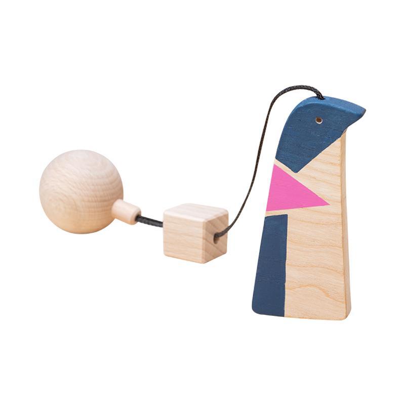 Jucarie din lemn pinguin, colorat, pentru carusel / centru de activitati, Mobbli imagine