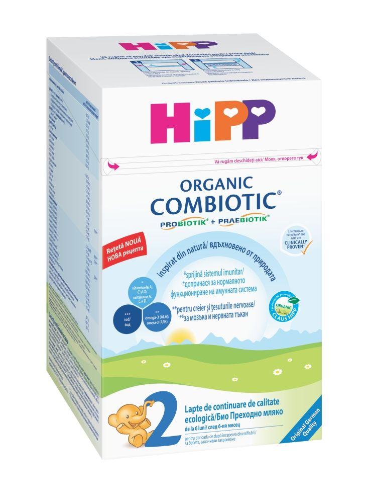 Lapte HiPP 2 Combiotic Lapte de continuare 800g imagine