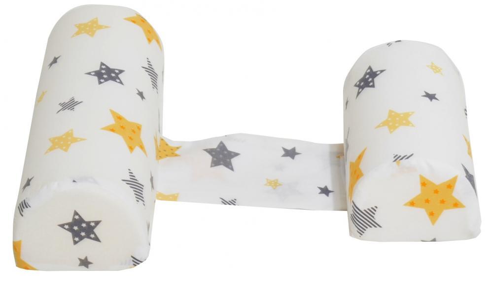 Perna anti-rasucire si pozitionare bebelusi Yellow and Grey Stars White imagine