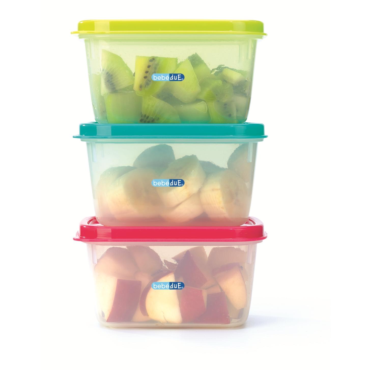 Set 3 recipiente hrana copii Colours and Flavours BebeduE 80210 imagine