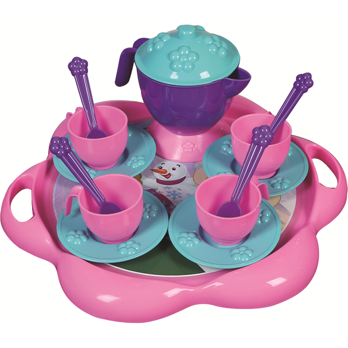 Set de ceai cu tavita 16 piese Ice World Ucar Toys UC124