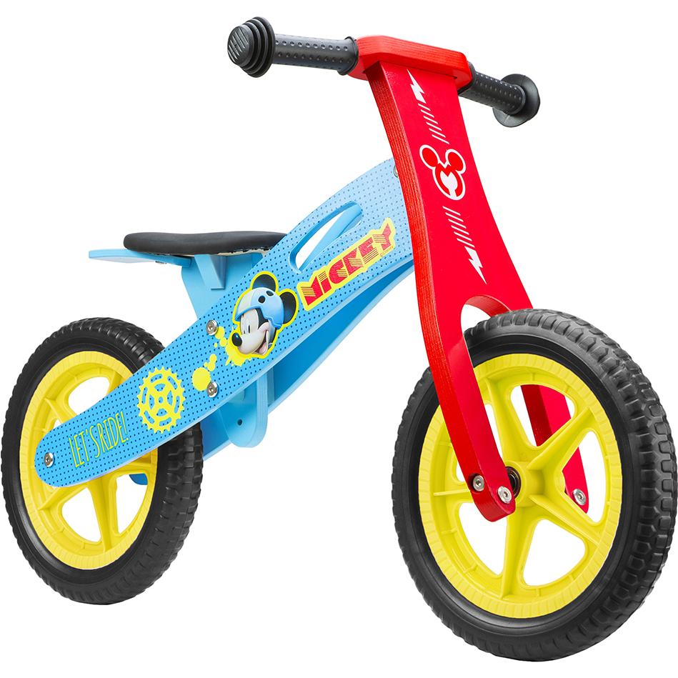 Bicicleta din lemn fara pedale 12 Mickey Seven SV9908 imagine
