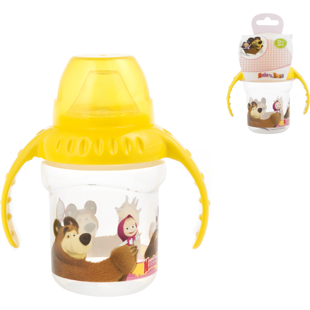 Cana cu maner 4 luni First Sips Masha and The Bear Lulabi 8053400