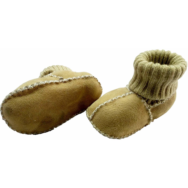 Botosei din piele si blanita de miel cu mansete tricotate - Marime 16 Altabebe MT4031L-01 imagine