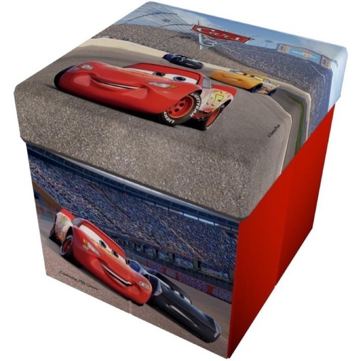 Taburet pliabil cu spatiu de depozitare Cars 3 Star ST49419 imagine