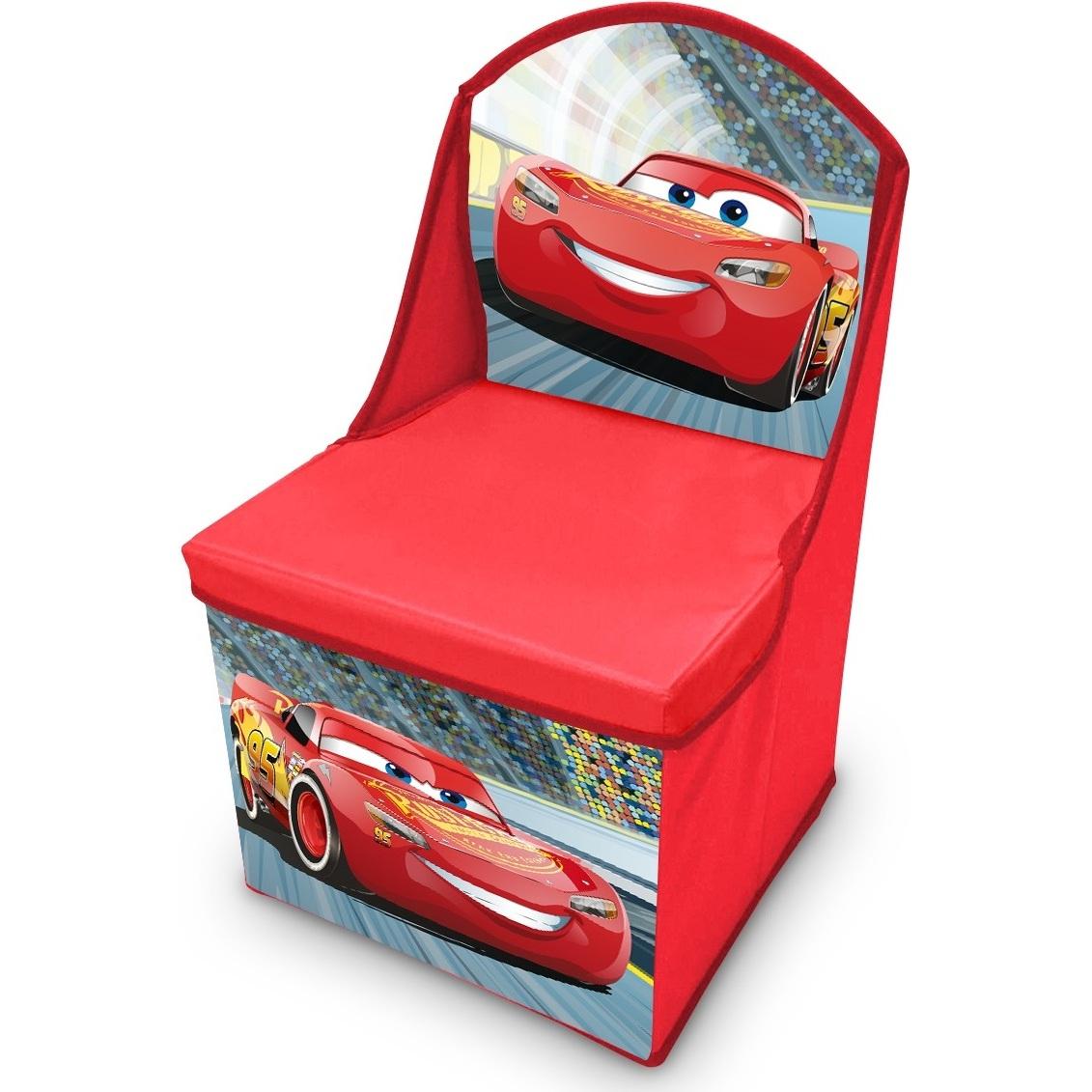 Scaun pliabil cu spatar si spatiu depozitare Cars SunCity CAE402546 imagine