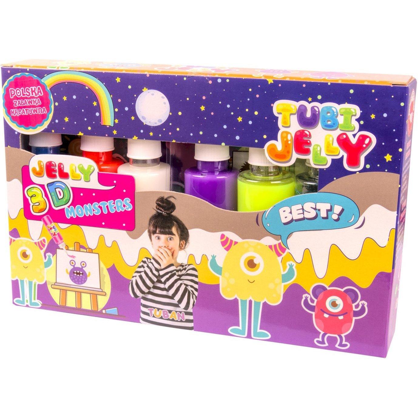 Set Tubi Jelly cu 6 culori - Monstri Tuban TU3324 imagine