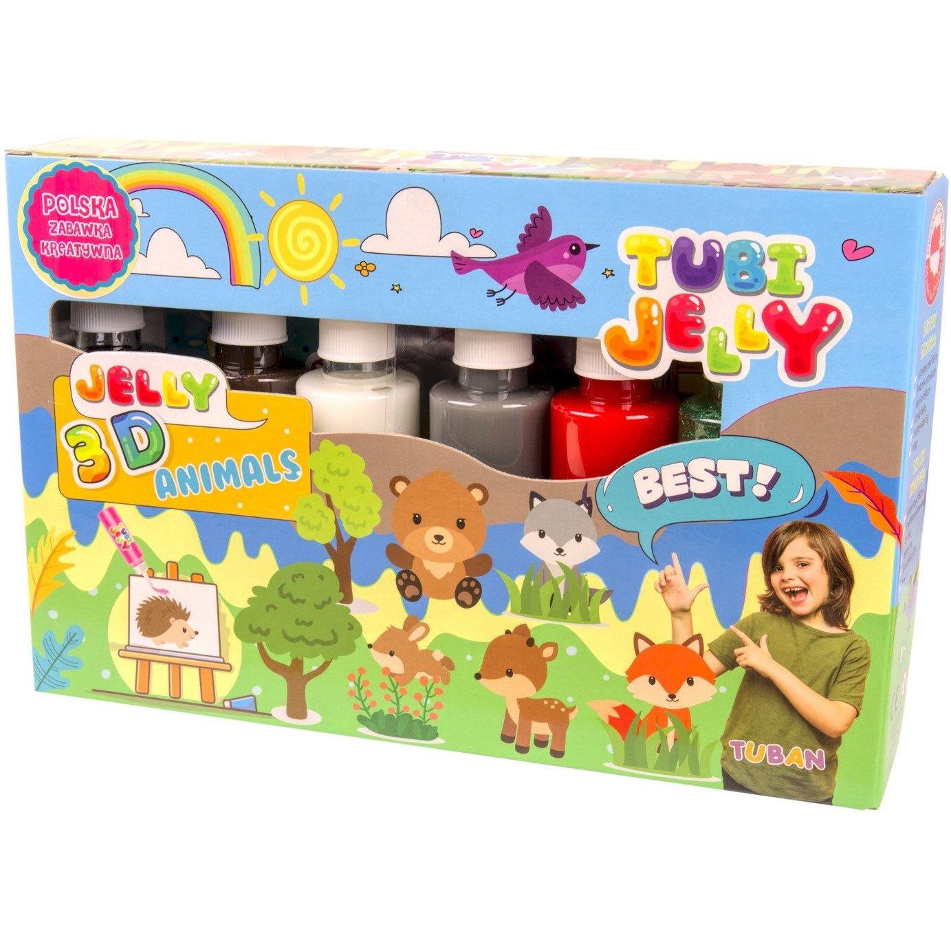 Set Tubi Jelly cu 6 culori - Animale Tuban TU3326 image0