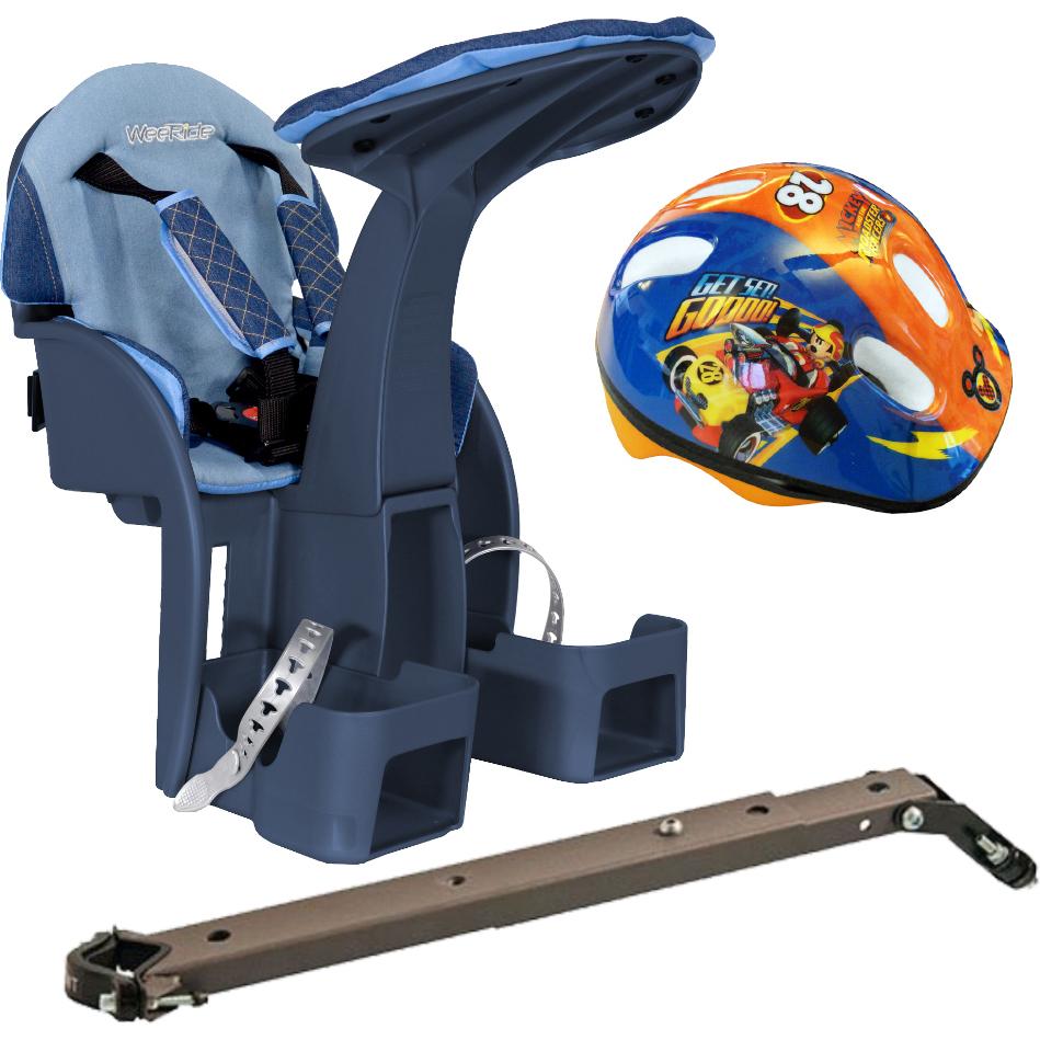 Scaun de bicicleta SafeFront Deluxe si Casca Protectie Mickey WeeRide WR10DMK imagine