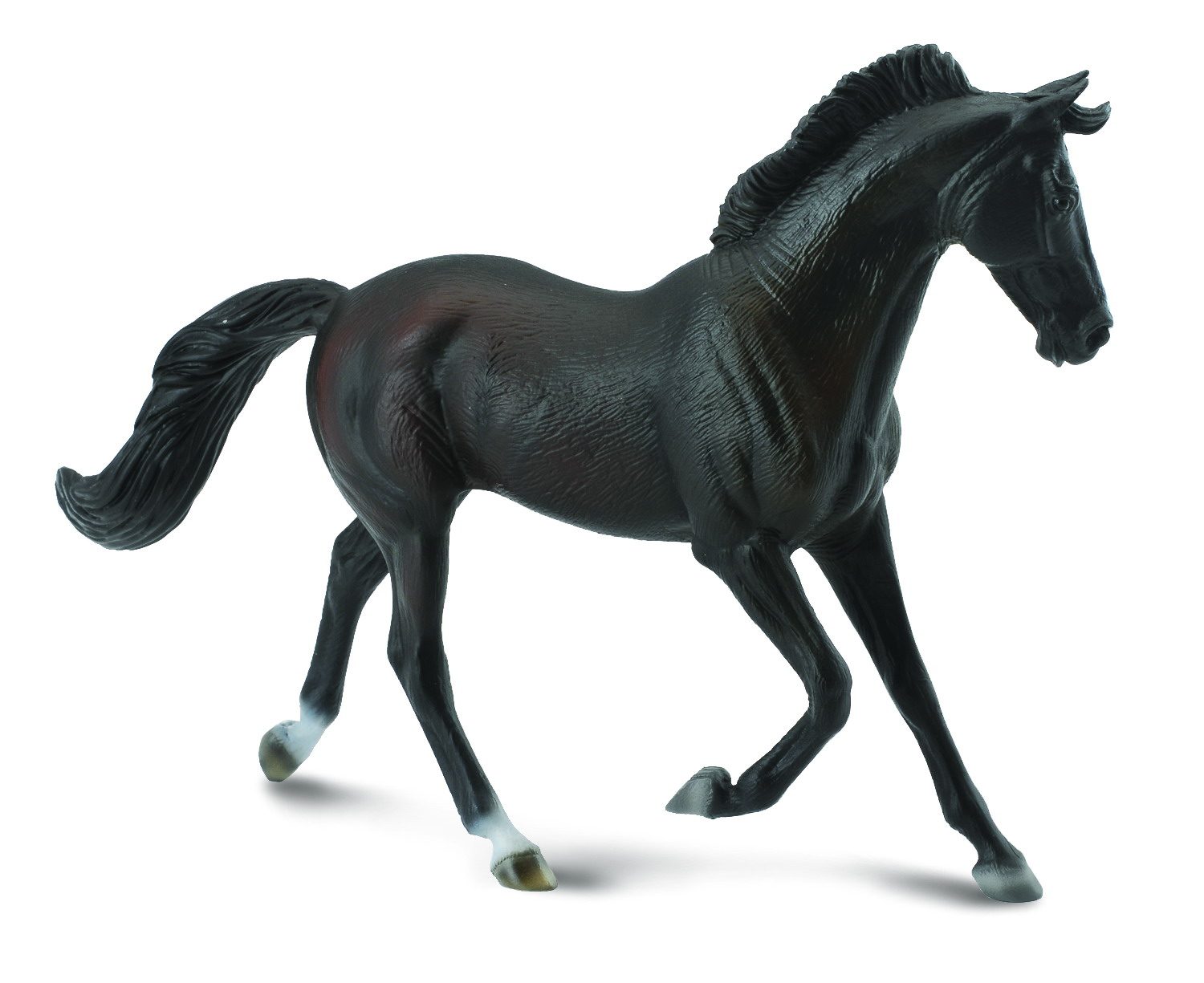 Figurina Iapa Thoroughbred Neagra pictata manual XL Collecta