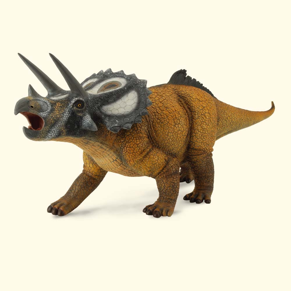Figurina dinozaur Triceratops pictata manual scara 1:15 Collecta