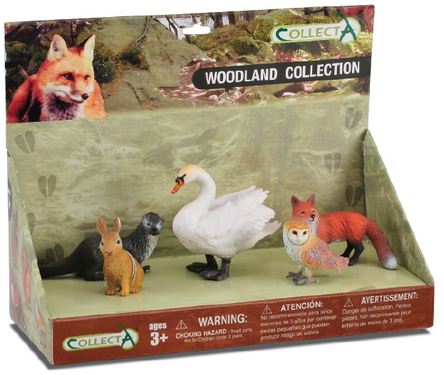 Set 5 figurine Animale din padure pictate manual LPP Collecta