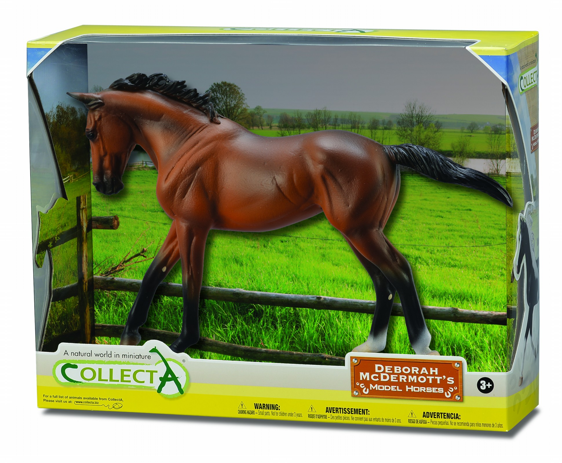 Figurina in cutie Iapa Thoroughbred Bay pictata manual WB Collecta