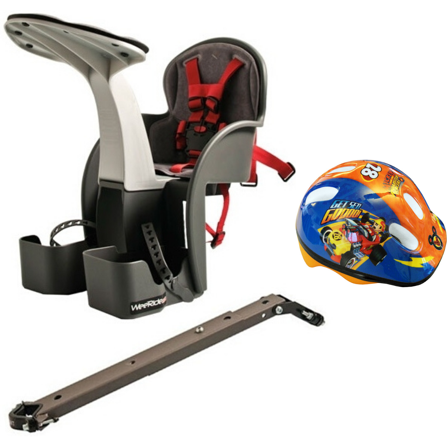Scaun de bicicleta si Casca Protectie Mickey WeeRide WR01DMK imagine