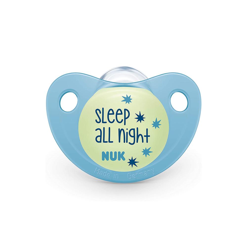 Suzeta Nuk Night & Day Silicon M2 Bleu 6-18 luni imagine