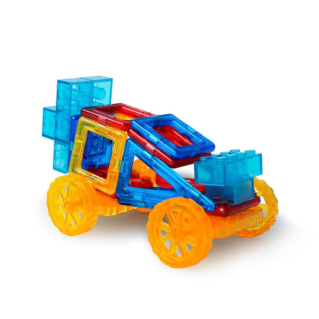 Joc de constructie magnetic - Masinuta si robotel