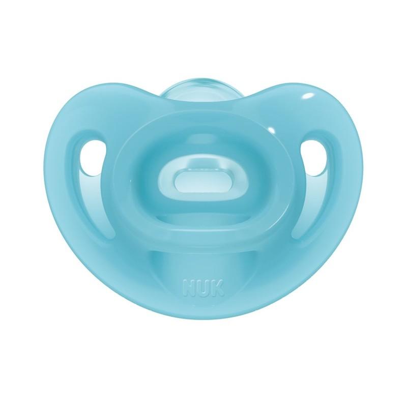 Suzeta Nuk Sensitive Silicon M2 Bleu 6-18 luni imagine