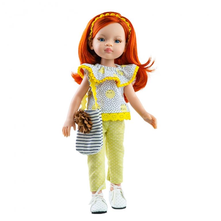 Papusa LIU in bluza cu pisicute galbene - Amigas, Paola Reina
