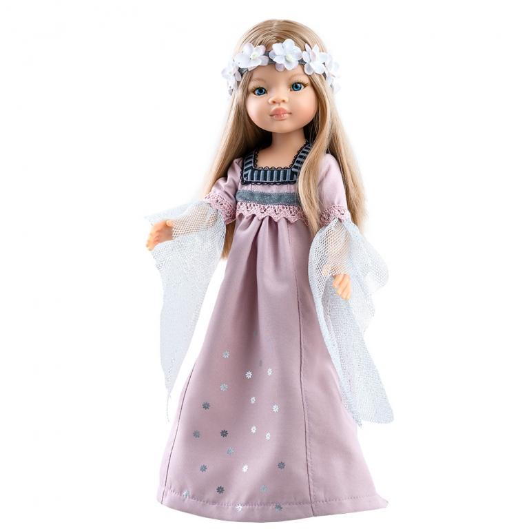 Papusa MANICA in rochie lunga de seara roz prafos - Amigas, Paola Reina
