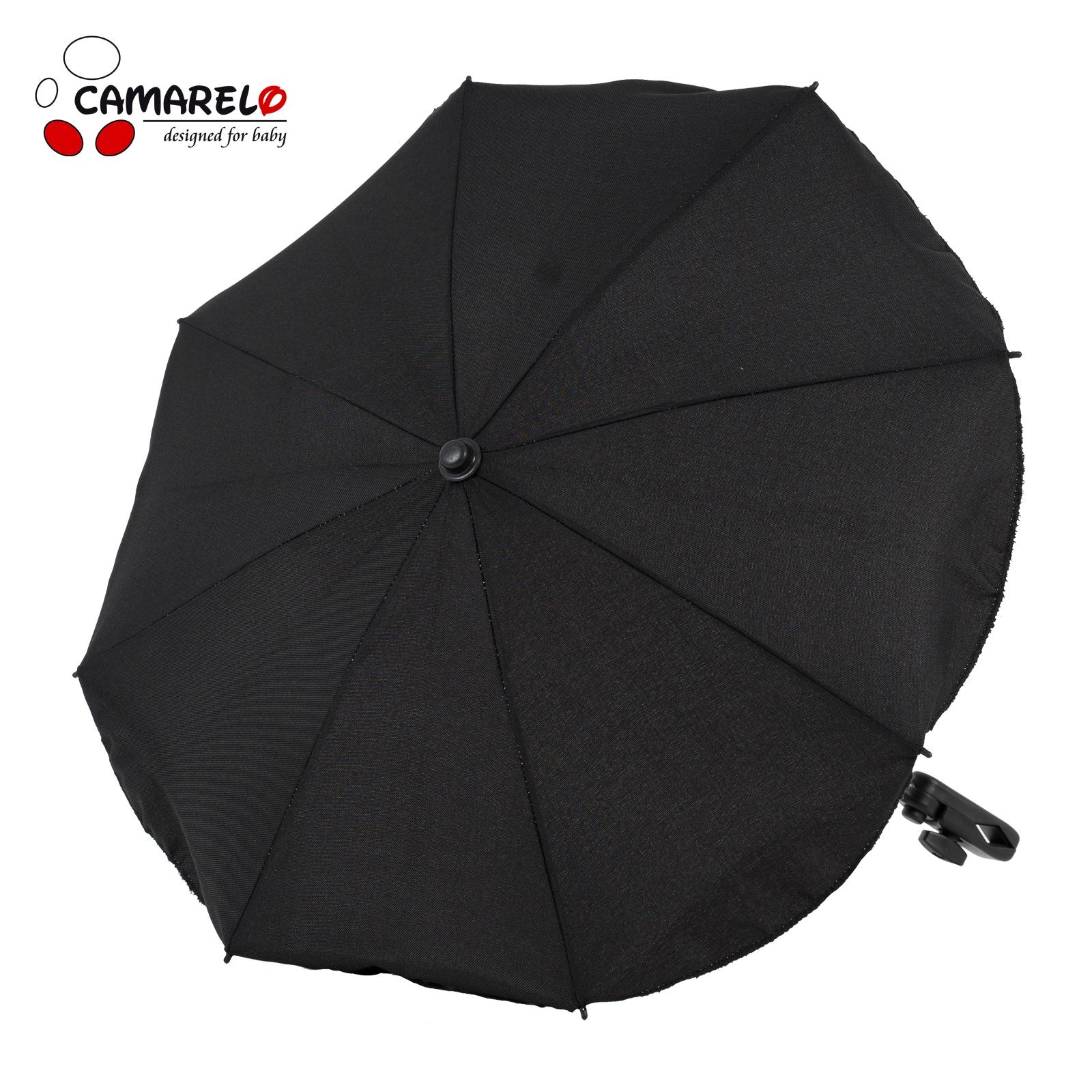 Umbrela Carucior Camarelo Neagra imagine