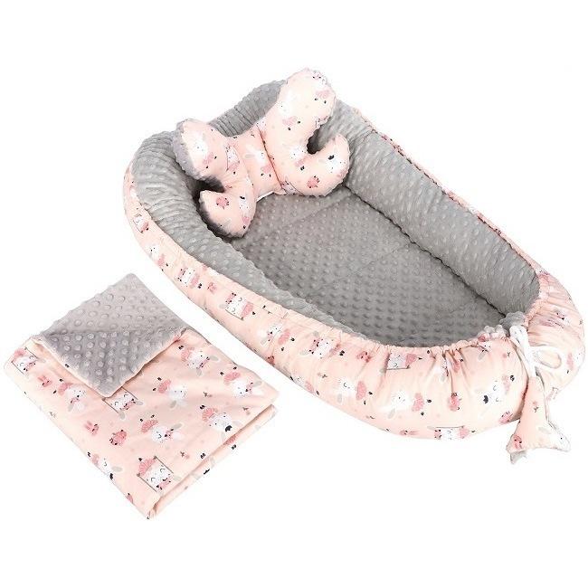 Set 3 in 1 Babynest Minky, paturica si perna Infantilo IF19097 imagine