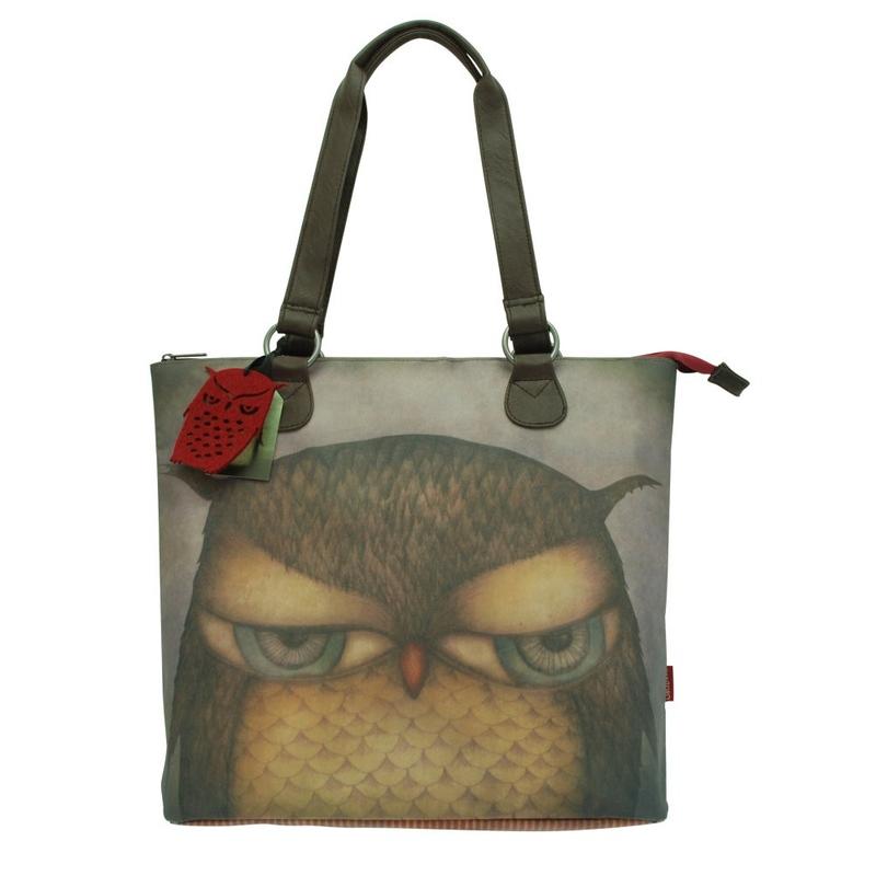 Geanta de umar Eclectic Grumpy Owl imagine
