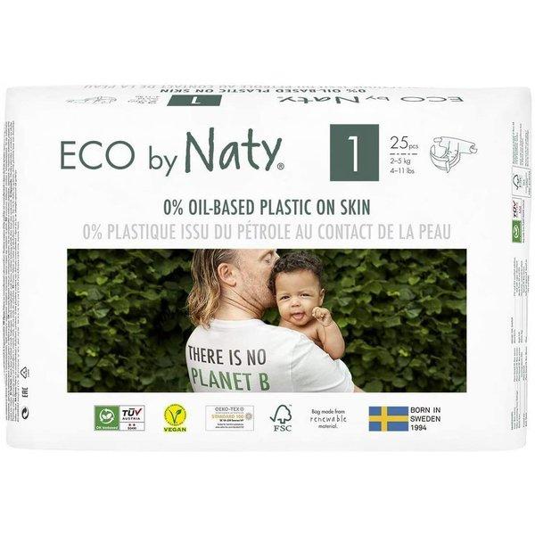 Scutece marimea 1, 25buc, 2-5kg, ECO by Naty imagine