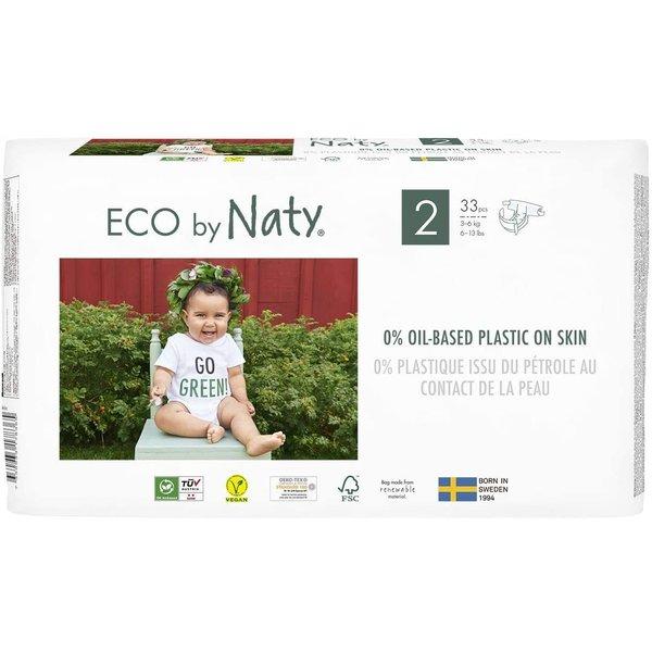 Scutece marimea 2, 33buc, 3-6kg, ECO by Naty imagine