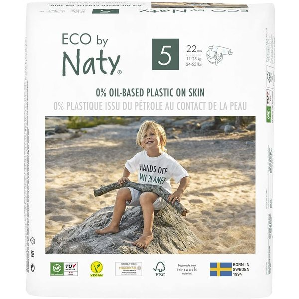 Scutece marimea 5, 22buc, 11-25kg, ECO by Naty imagine