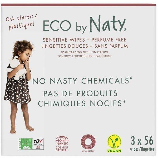 Servetele umede fara parfum 3*56buc, ECO by Naty imagine