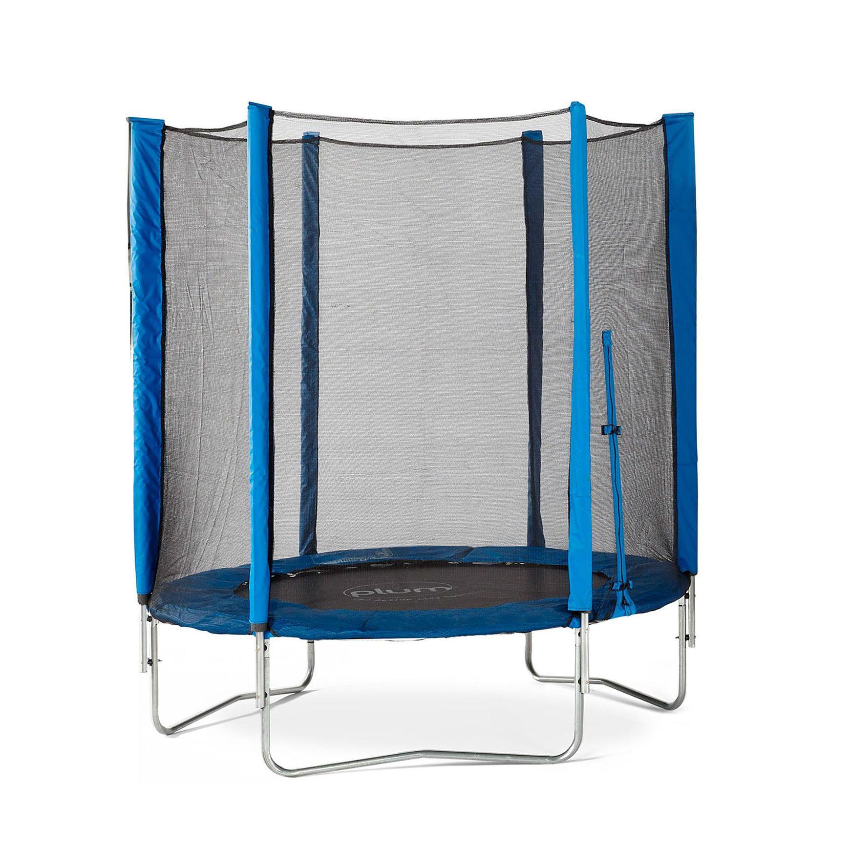 Set trambulina cu plasa de protectie Junior Blue 140 cm PLUM imagine