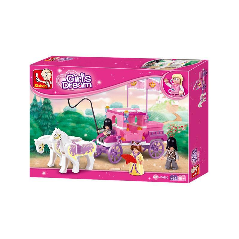 Set de constructie, Girl's Dream Caleasca Regala, 137 piese, Sluban