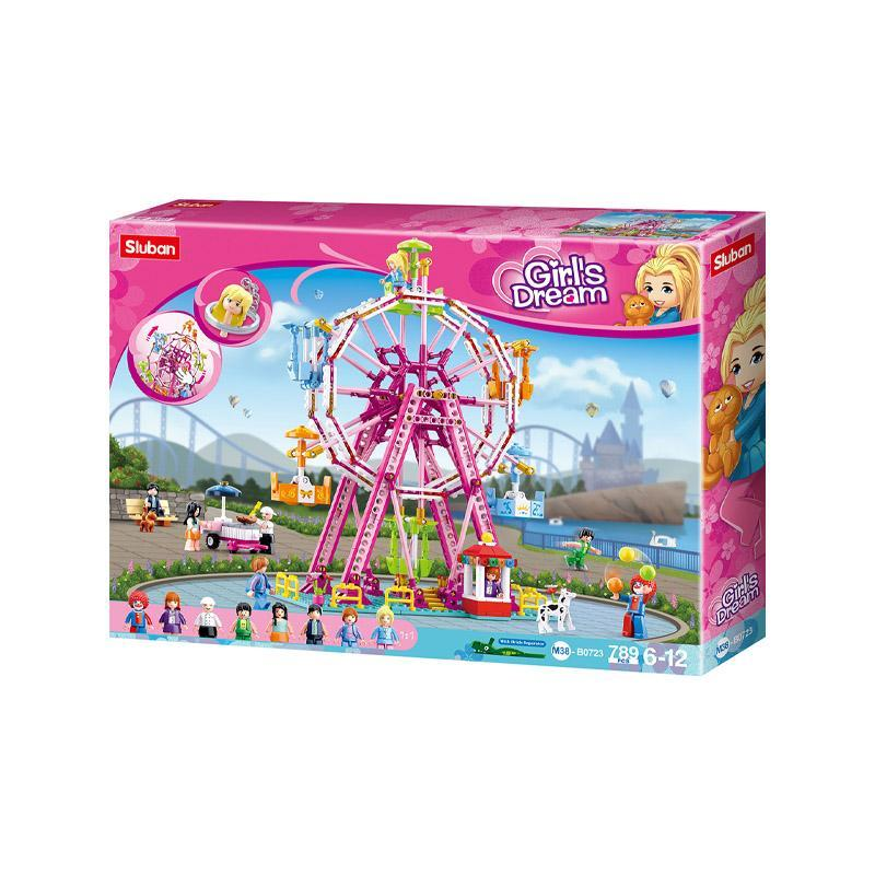Set de constructie, Girl's Dream Sky Wheel, 789 piese, Sluban