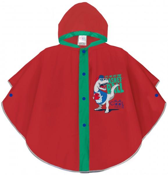 Pelerina de ploaie Dinozaur pentru copii cu detalii reflectorizante Perletti