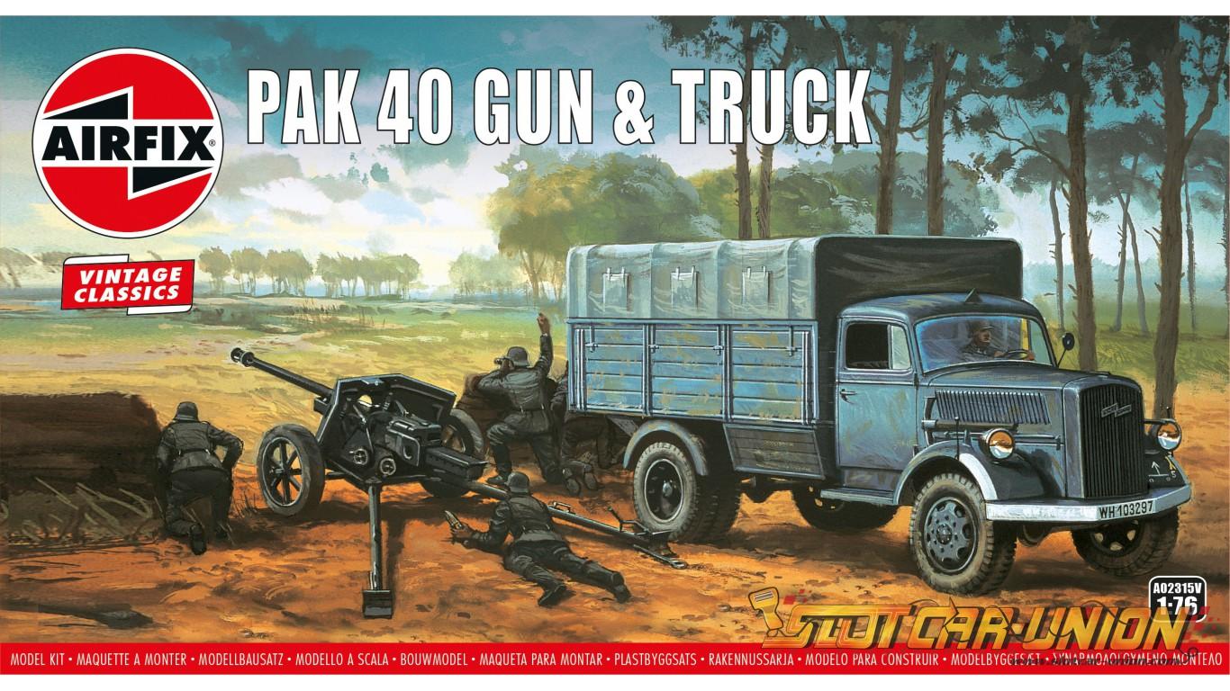 Kit constructie Airfix Vintage Classics - PAK 40 Gun & Truck 1:76