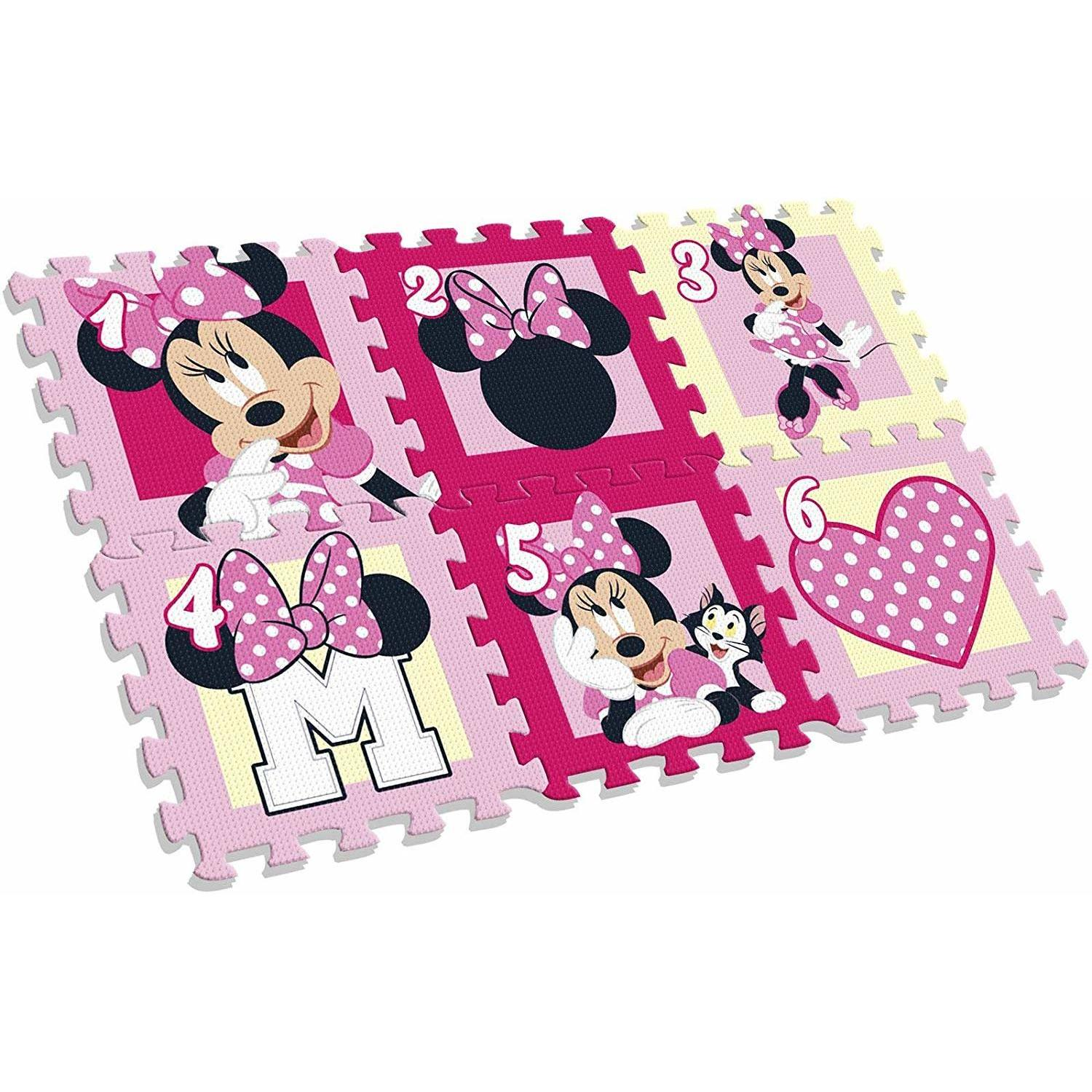 Covor puzzle Minnie Mouse 6 piese SunCity EWA20123WD