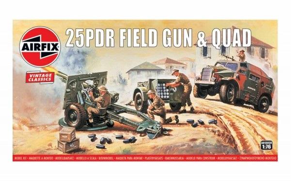 Kit constructie Airfix Vintage Classics - 25pdr Field Gun & Quad 1:76