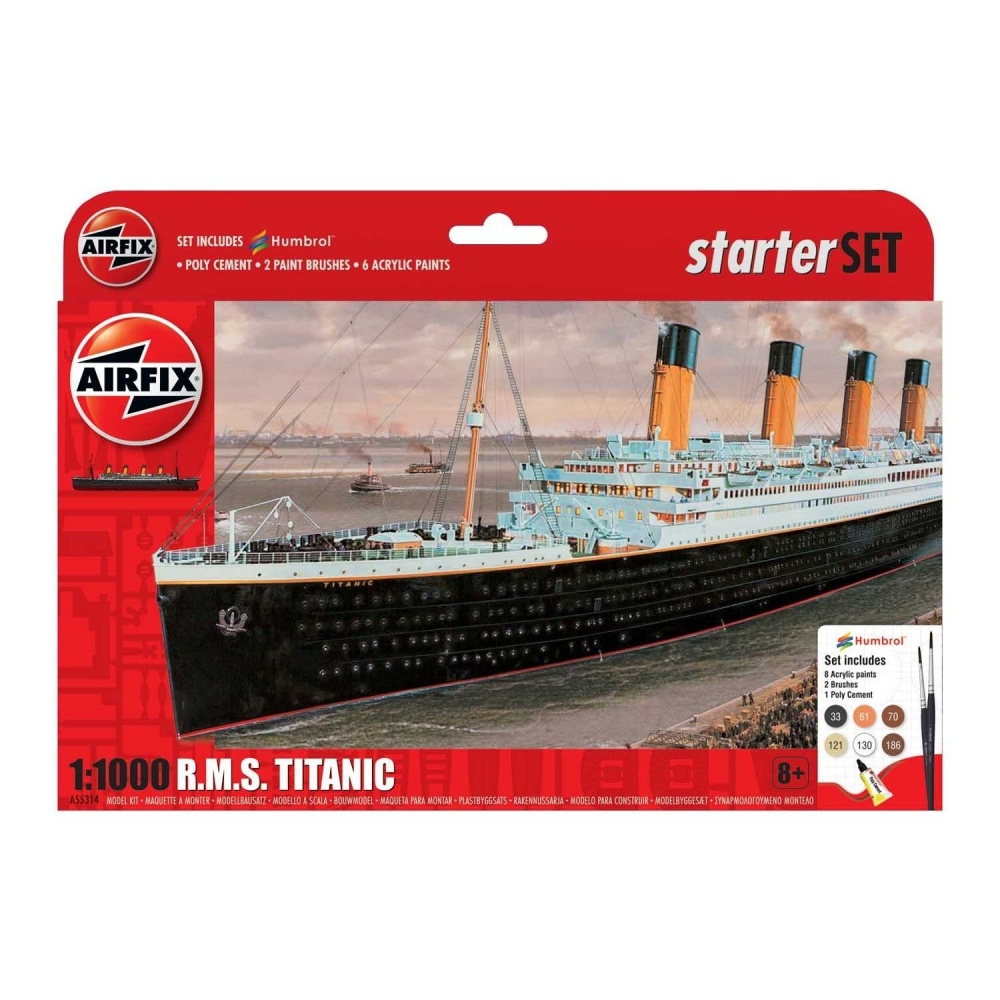 Kit constructie Airfix nava de croaziera R.M.S. Titanic Gift Set 1:1000