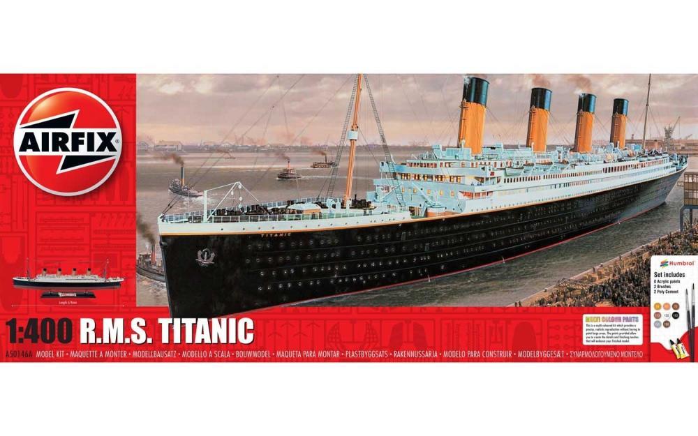 Kit constructie Airfix nava de croaziera R.M.S. Titanic Gift Set 1:400