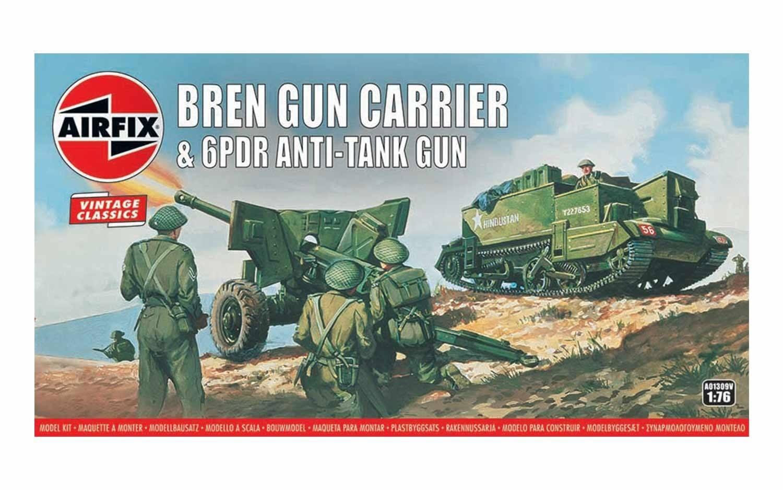 Kit constructie Airfix Vintage Classics - Bren Gun Carrier & 6pdr Anti-Tank Gun 1:76