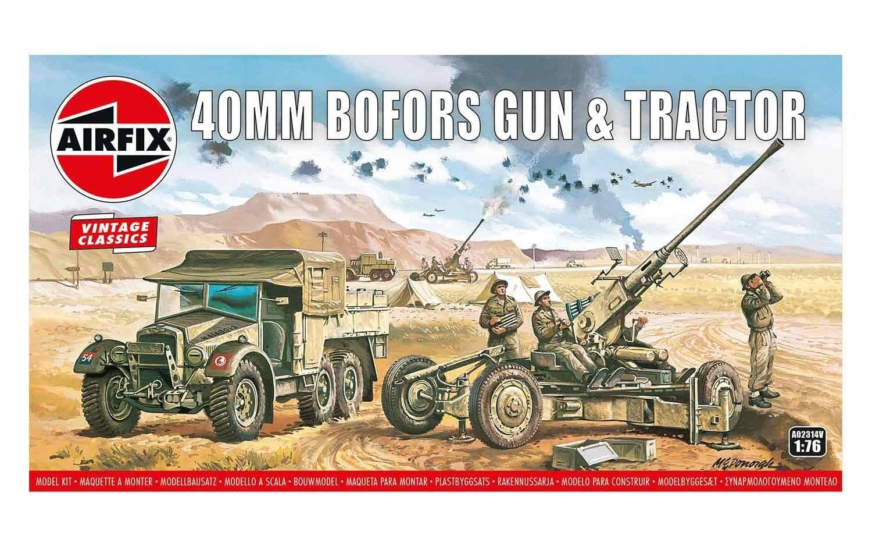 Kit cosntructie Airfix Vintage Classics - Bofors 40mm Gun & Tractor 1:76