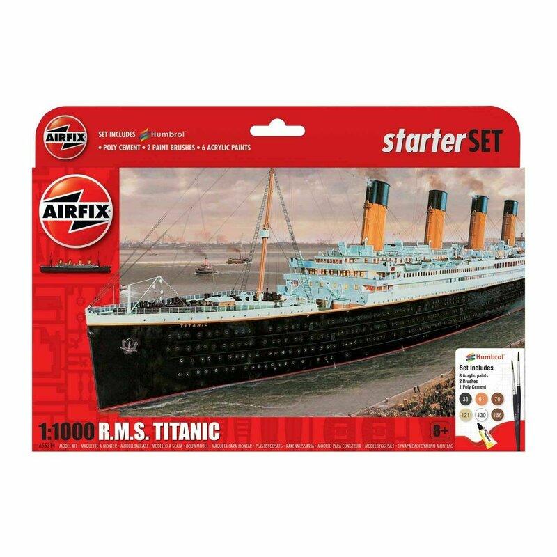 Kit constructie Airfix nava de croaziera R.M.S. Titanic Gift Set 1:700
