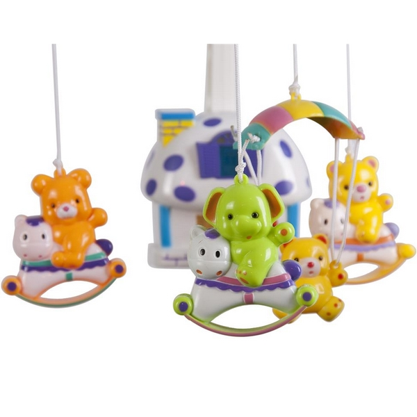 Carusel muzical sun baby 013 cu lampa, sunete si jucarii imagine